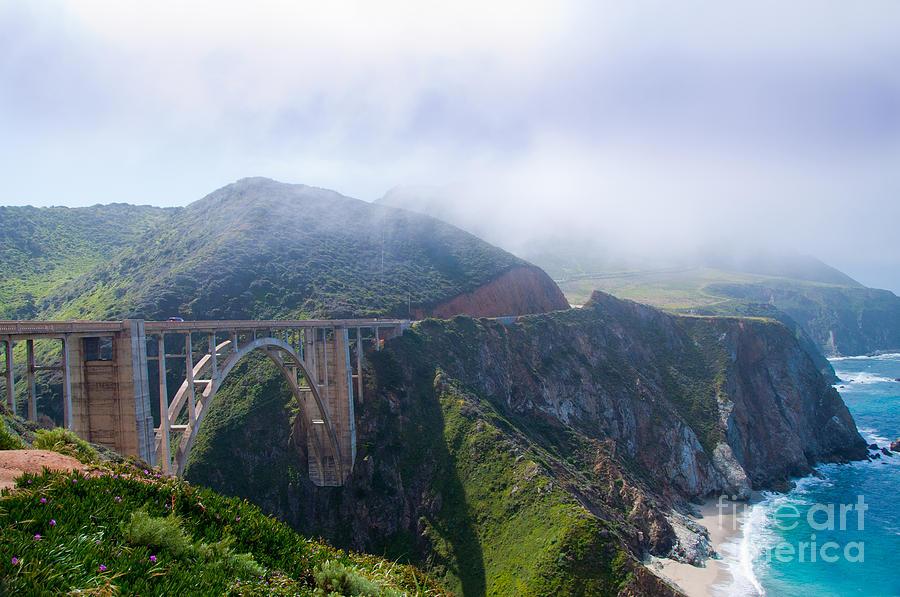 Big Sur Photograph - Bixby Bridge Fog by Digartz - Thom Williams