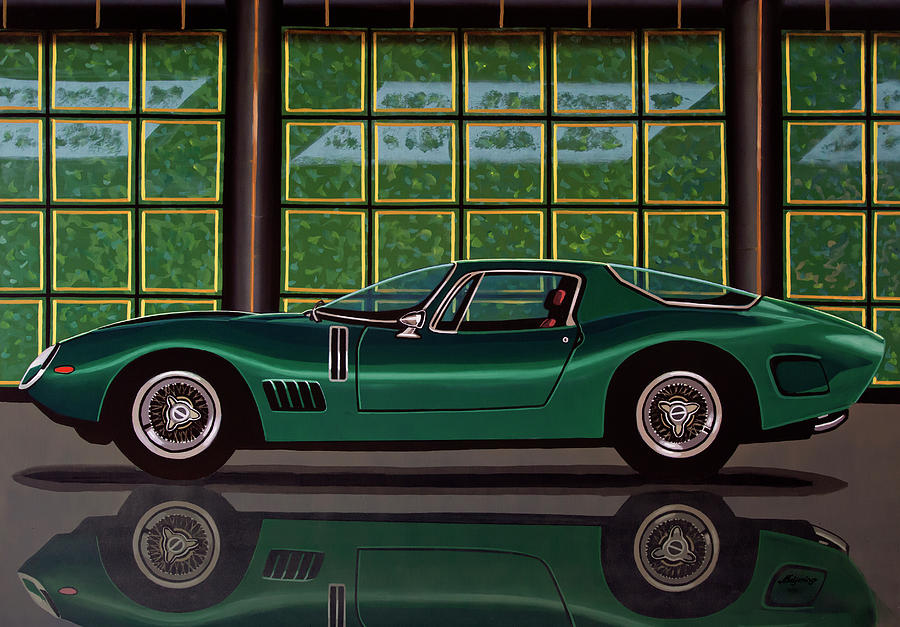 Bizzarrini Painting - Bizzarrini 5300 GT Strada 1965 Painting by Paul Meijering