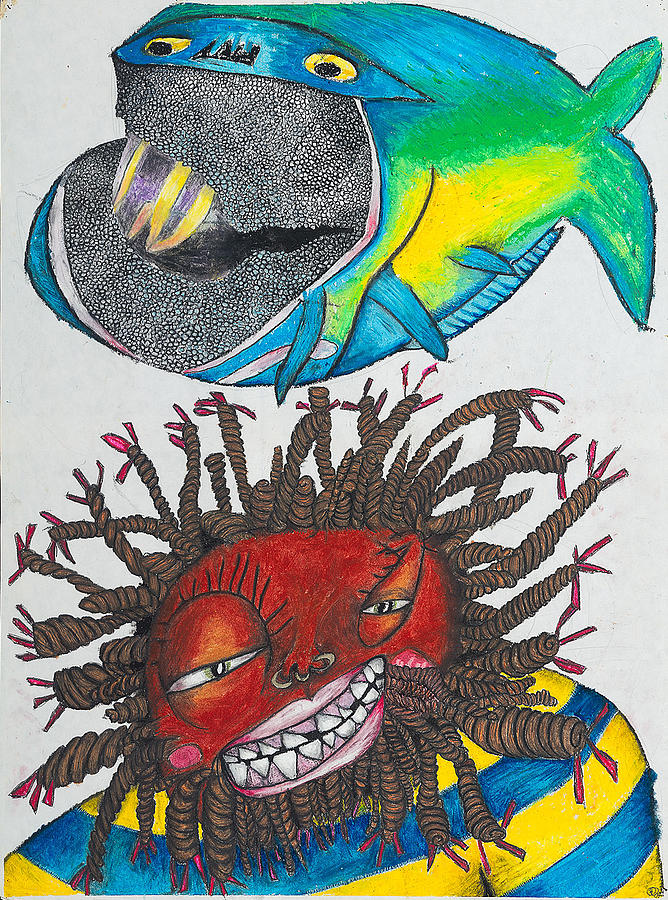Writer Painting - BK-Fish  by Billy Knows