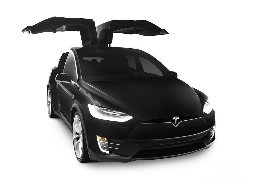 Tesla Photograph - Black 2017 Tesla Model X Luxury Suv Electric Car Falcon Doors by Oleksiy  sc 1 st  Fine Art America & Black 2017 Tesla Model X Luxury Suv Electric Car Falcon Doors ... pezcame.com