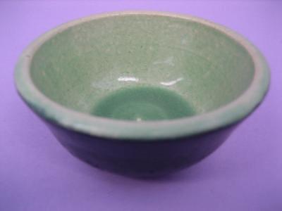Celedon Ceramic Art - Black And Celedon Bowl by Elizabeth Bure