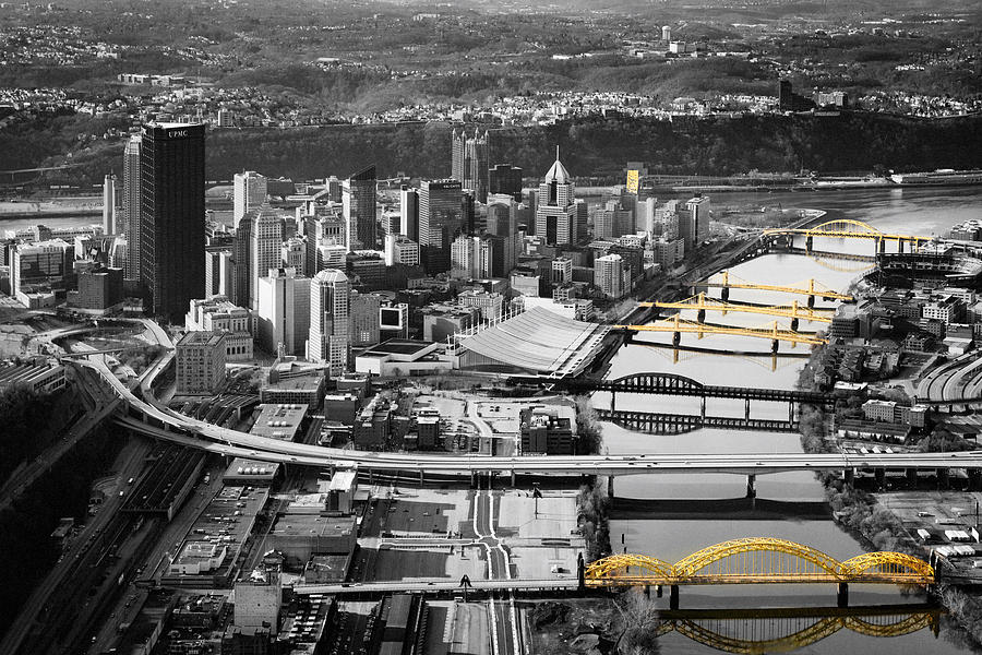 Aerial Photography Photograph - Black And Gold Pittsburgh  by Emmanuel Panagiotakis