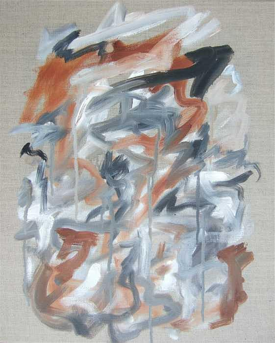 Abstract Painting - Black and Tan No 2 by Michael Henderson
