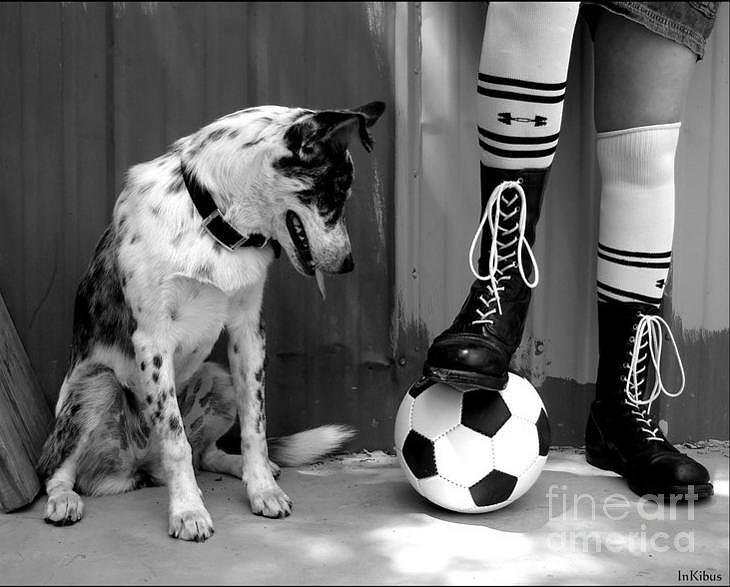 Black And White And Soccer Photograph by Alana  Schmitt