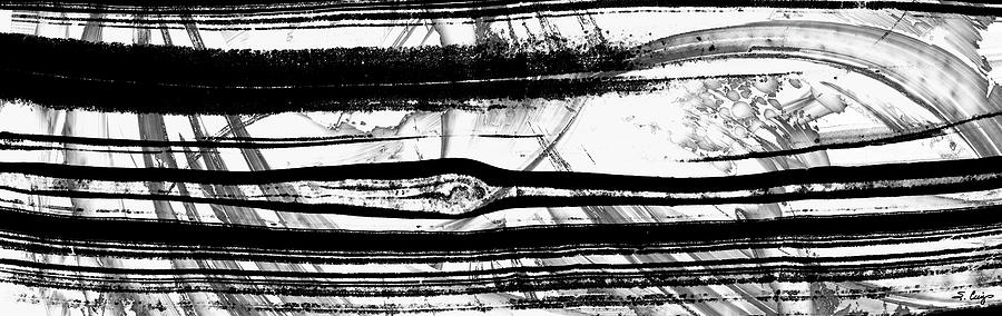 Black And White Painting - Black And White Art - Layers - Sharon Cummings by Sharon Cummings