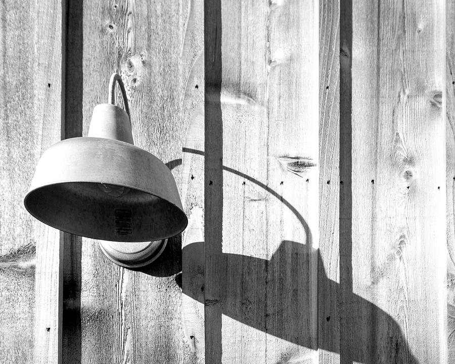 Barn Photograph - Black And White Barn Fixture 2 by Steven Jones