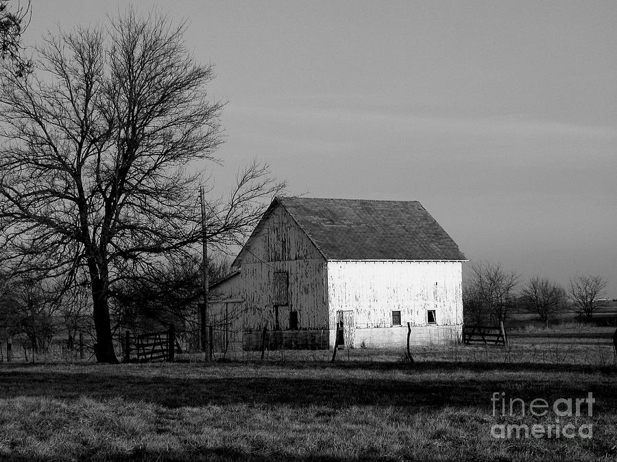 Barn Photograph - Black And White Barn Ll by Michelle Hastings