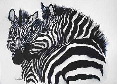 Black And White Painting by Bev Chudey