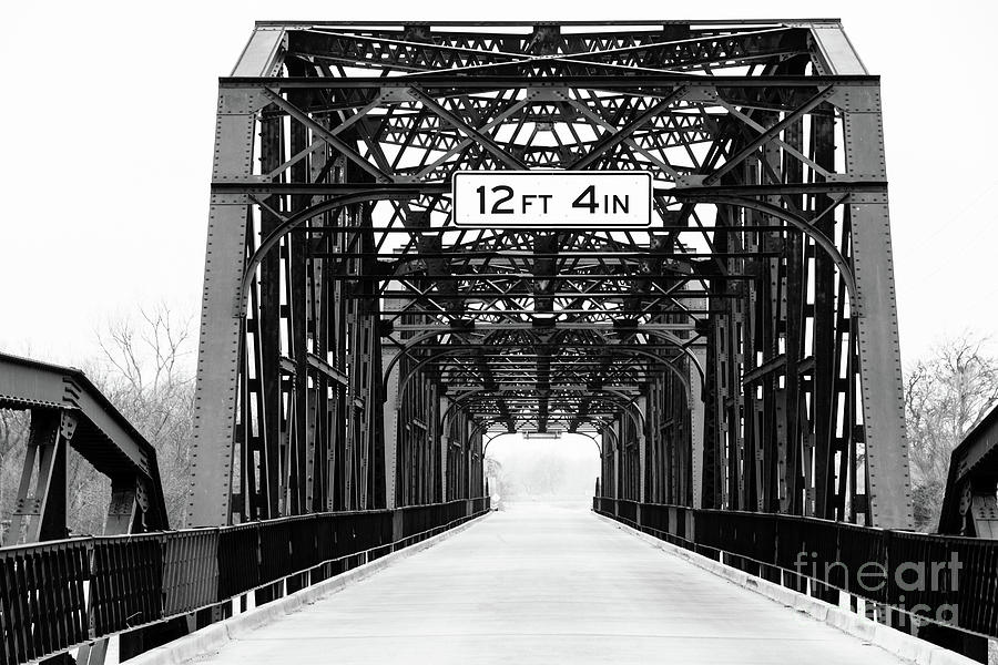 Black And White Photograph - Black And White Bridge by Terri Morris