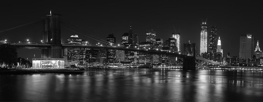 Black And White Brooklyn Bridge Photograph by Shane Psaltis