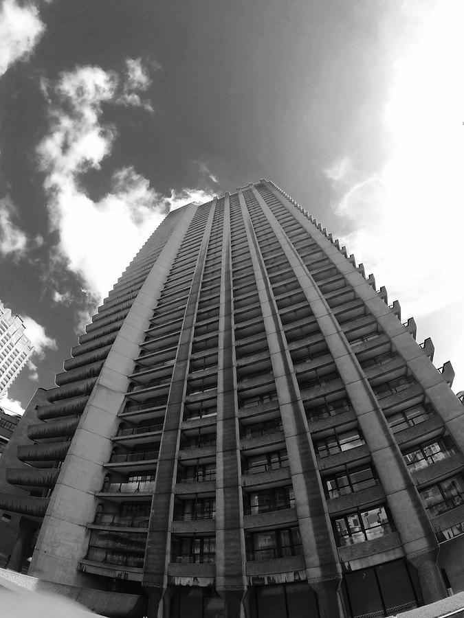 The Barbican Photograph - Black And White Brutalist Barbican by Steve Swindells