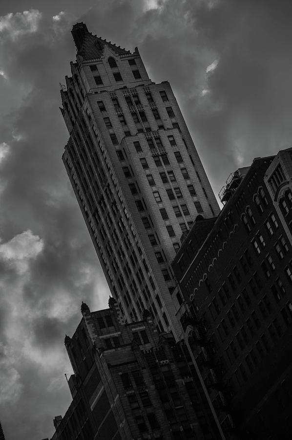 Building Photograph - Black And White Buildings by Nestor Nares