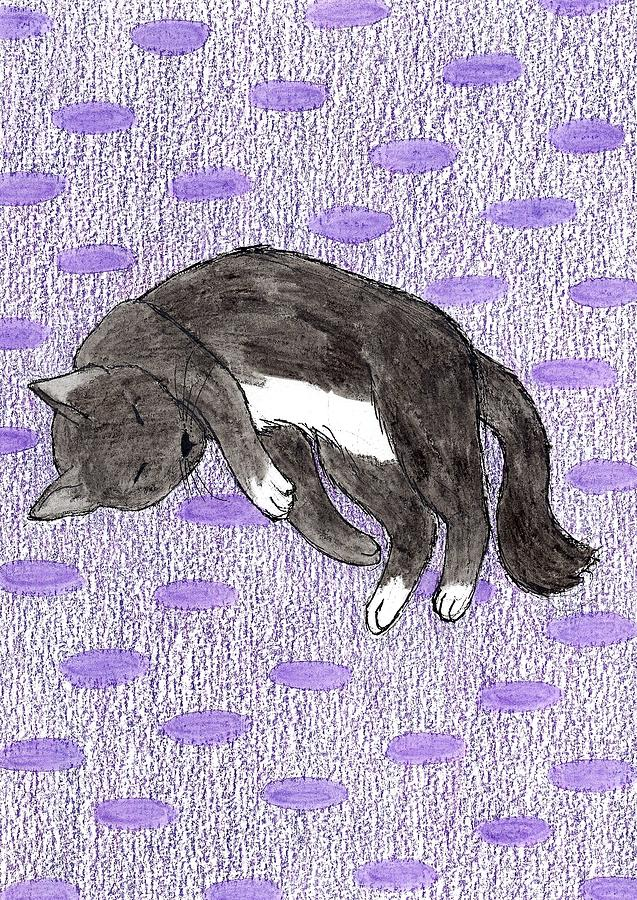 Black and White Cat 1 by Brittany Dorris