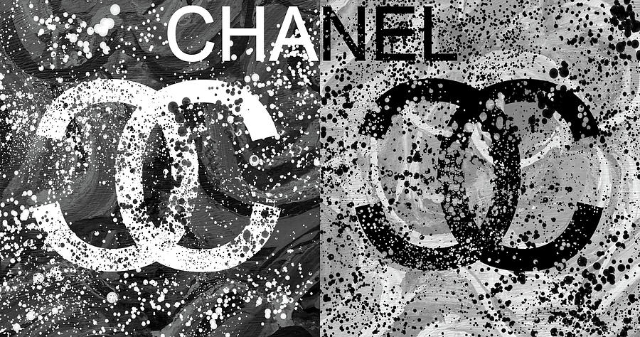 Black And White Chanel Art Mixed Media