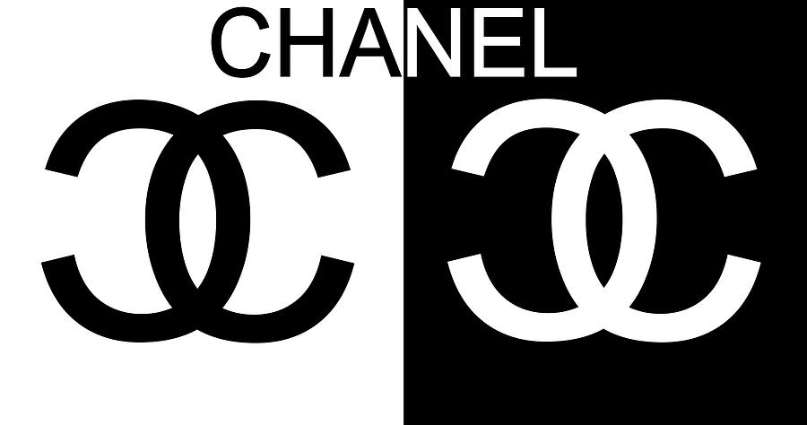 Chanel Logo Mixed Media - Black And White Chanel by Dan Sproul