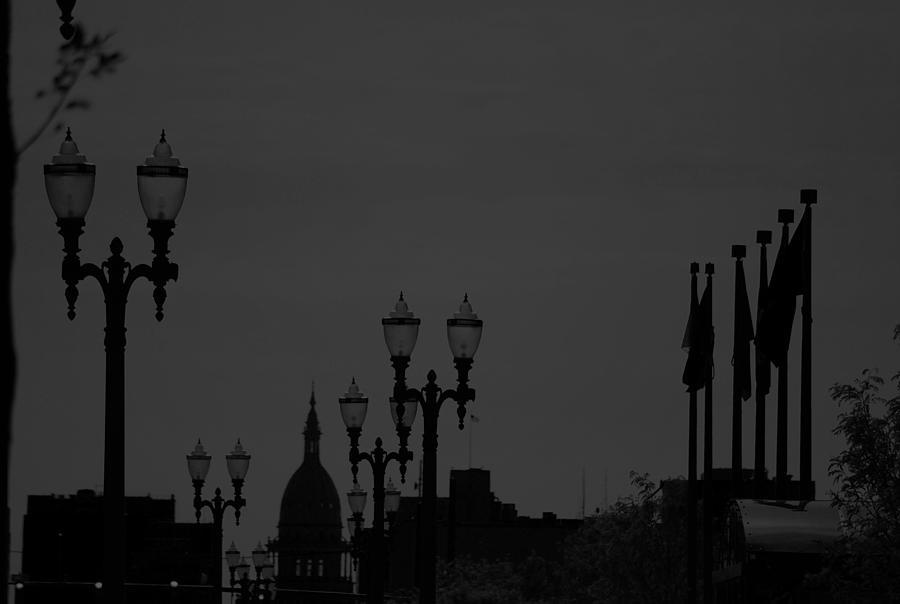 City Photograph - Black And White City Scape  by Michelle  BarlondSmith