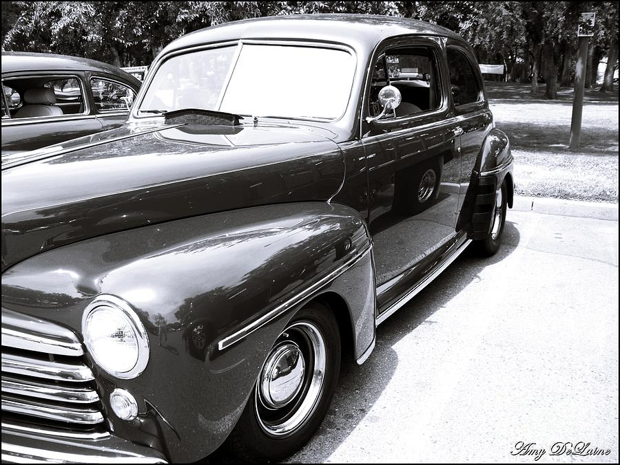 Black And White Classic Car Photograph by Amy Delaine