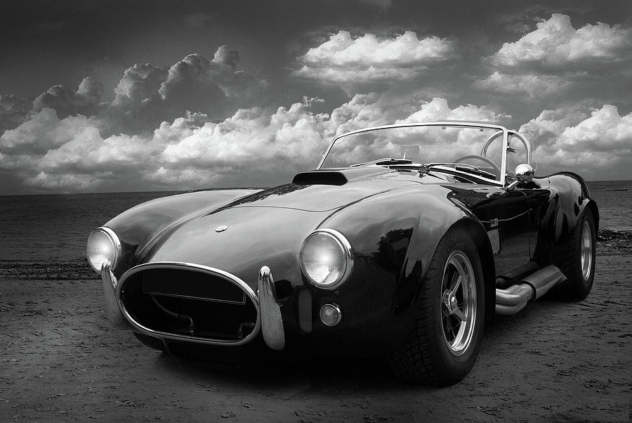 Black And White Cobra Car Photography - Classic Cars Collection Photograph By Wall Art -8606
