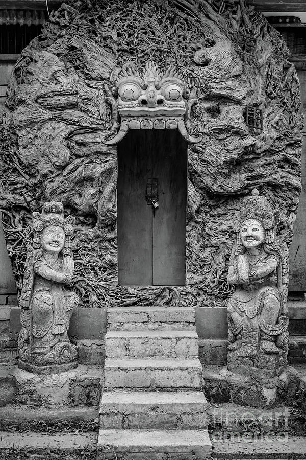 Black and White Doors on Campuhan Ridge Walk, Ubud, Bali by Global Light Photography - Nicole Leffer