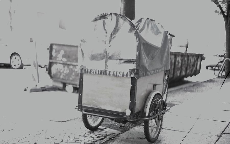 Black And White Photograph - Black And White German Stroller by Nacho Vega