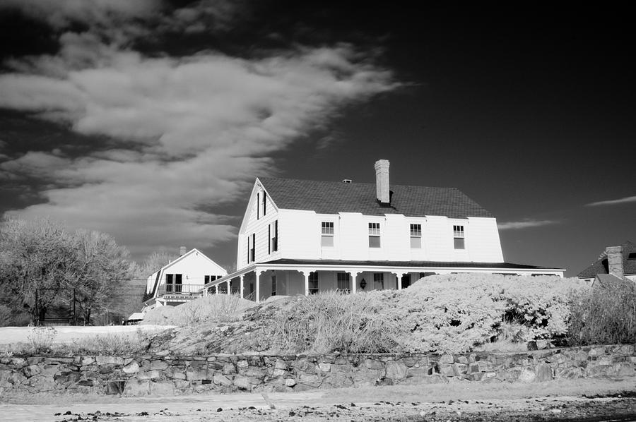 House Photograph - Black And White Image Of A House In New England In Infrared by David Thompson