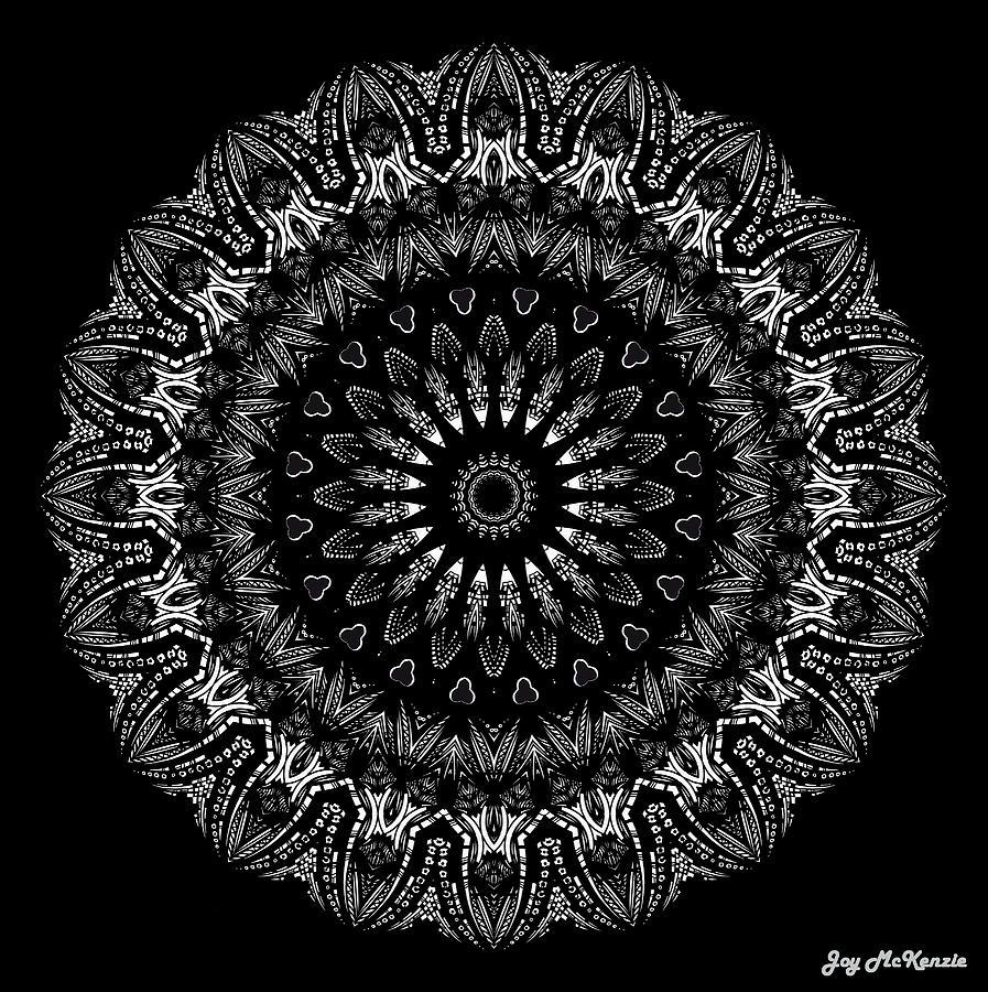 Iphone wallpaper inside out - Black And White Mandala No 2 Digital Art By Joy Mckenzie