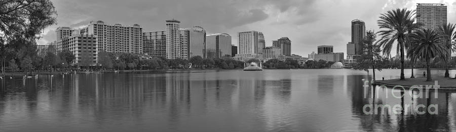 Black And White Orlando Sunset Photograph