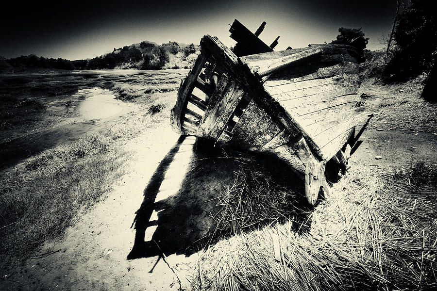 Black And White Photography Photograph - Black And White Photography Shipwreck Pinhole by Dapixara Art