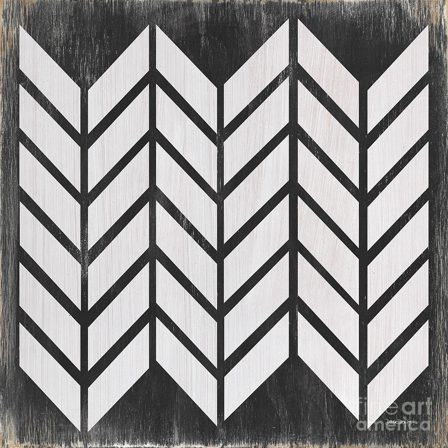 Quilt Painting - Black and White Quilt by Debbie DeWitt