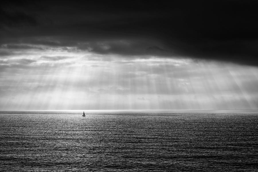 Black and white seascape by Mirko Chessari