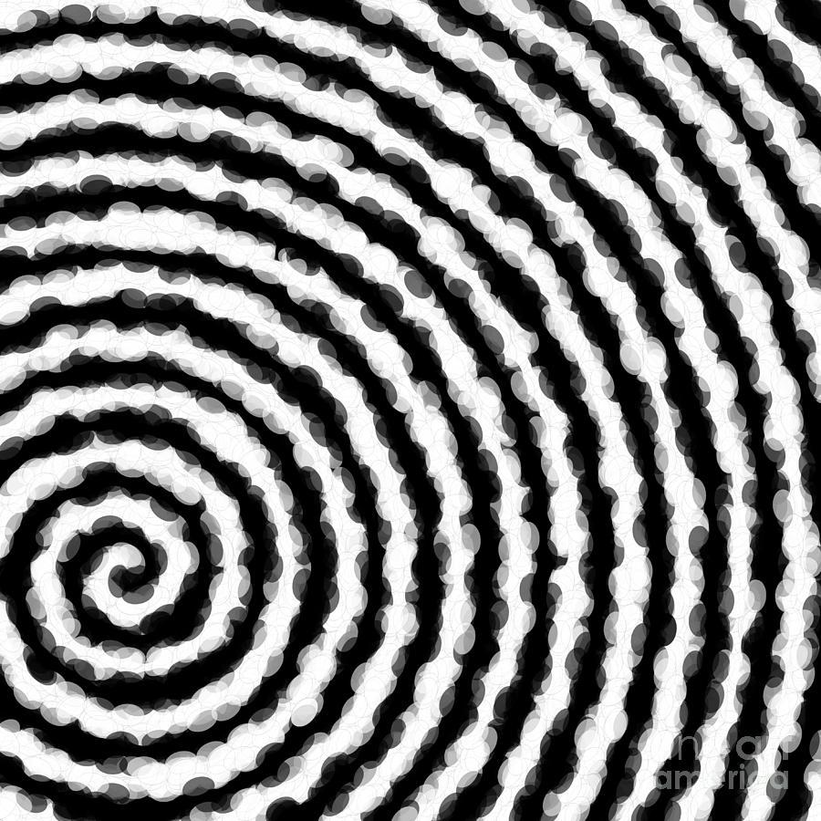 Spiral Digital Art - Black And White Spiral by Jennifer Van Niekerk