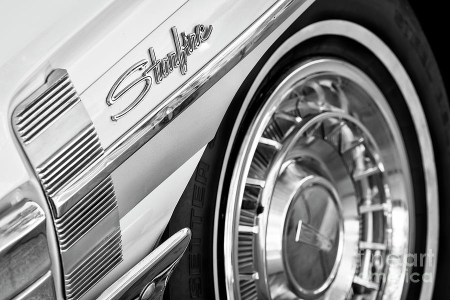 Oldsmobile Photograph - Black And White Starfire by Dennis Hedberg