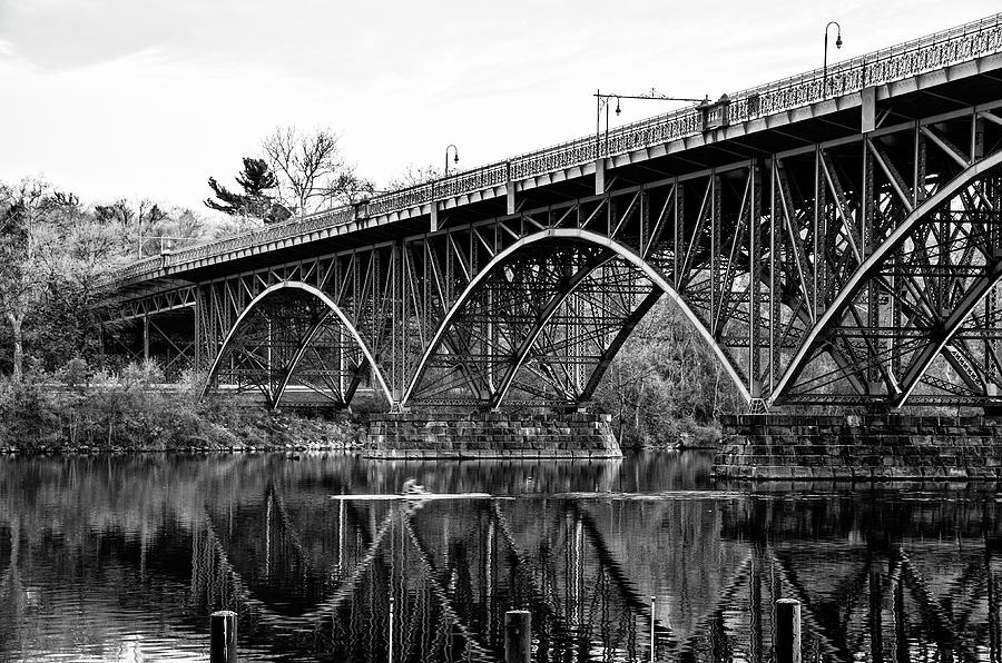 Black and White - Strawberry Mansion Bridge - Philadelphia by Bill Cannon