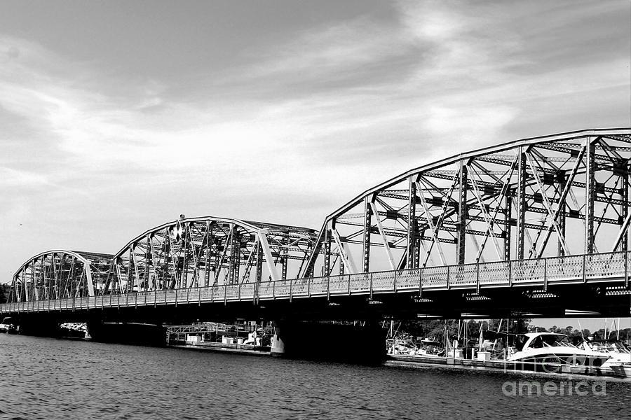 Black And White Sturgeon Bay Steel Bridge Photograph