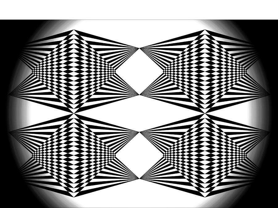 White T-shirt Digital Art - Black And White T-shirt by Isam Awad
