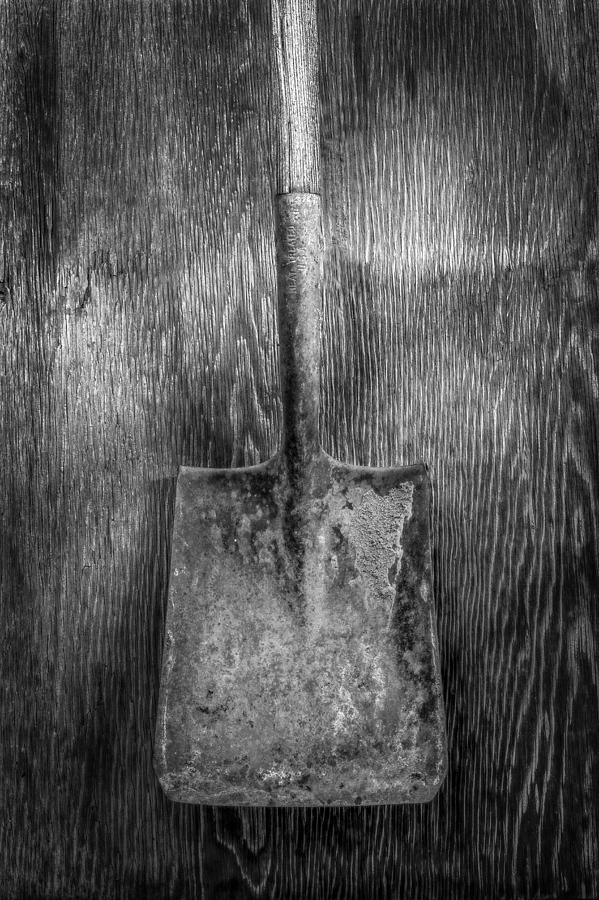 Antique Photograph - Square Point Shovel 3 by YoPedro
