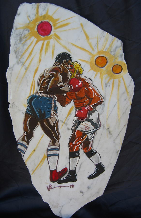 Boxing Mixed Media - Black And White  by V Boge