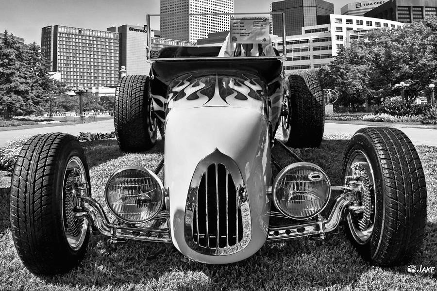 Black And White Vintage Model T Street Rod Photograph by Jake Steele