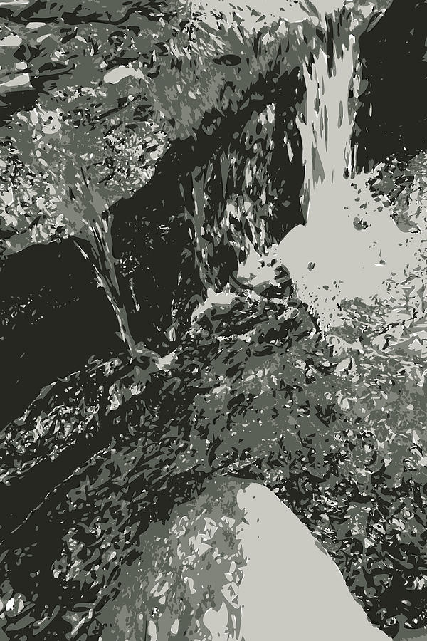 Outdoor Digital Art - Black and White Water by Poster Book