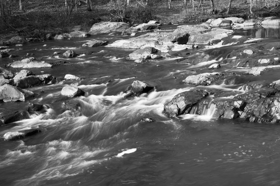 Natural Photograph - Black And White Water by William Hall