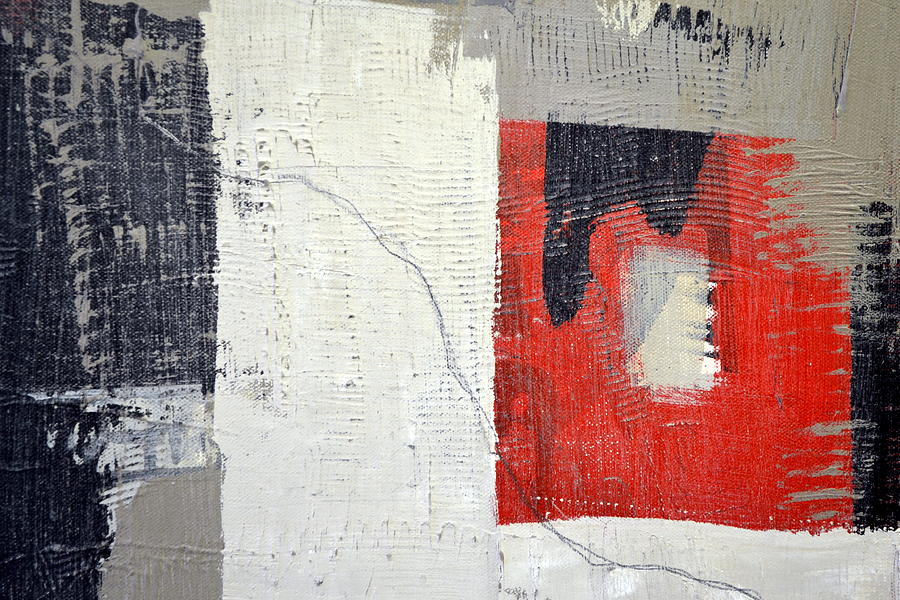 Black and White with Red Box by Michelle Calkins