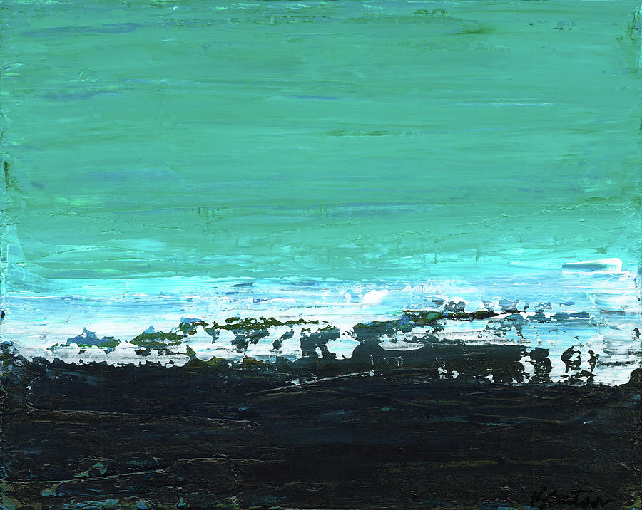Canvas Print Painting - Black Beach by K Batson Art