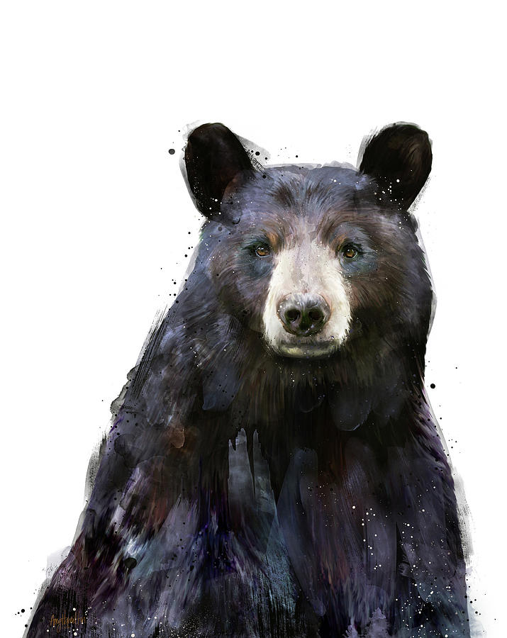 Bear Painting - Black Bear by Amy Hamilton
