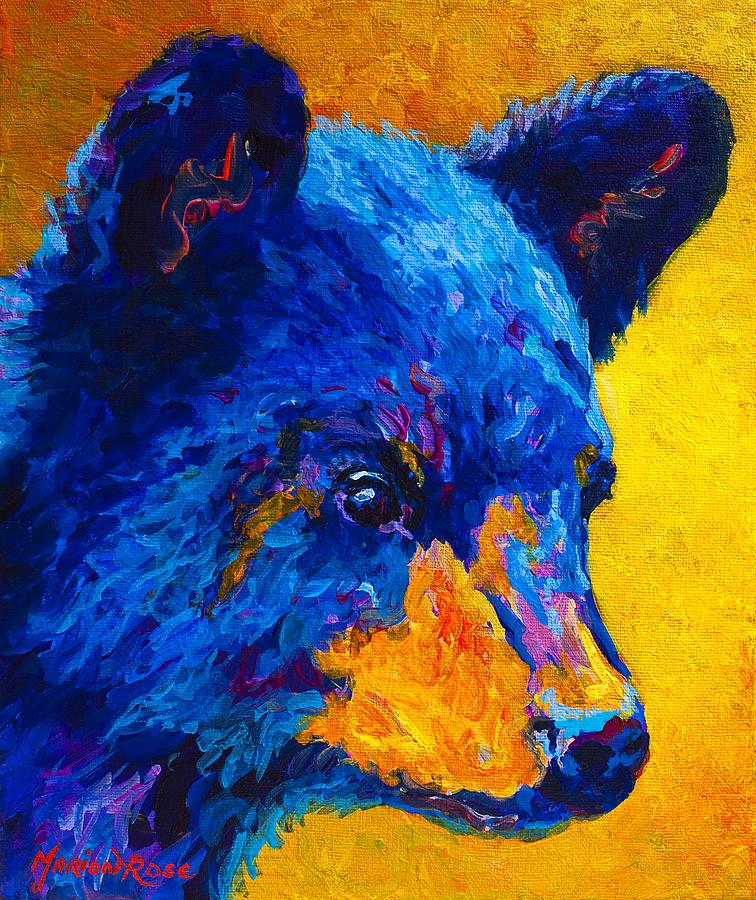 Bear Painting - Black Bear Cub 2 by Marion Rose