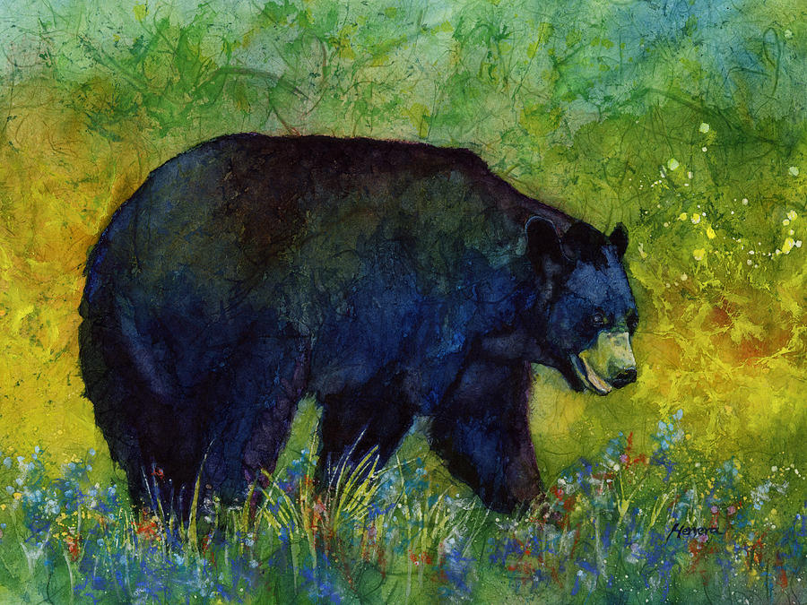 Black Bear Painting