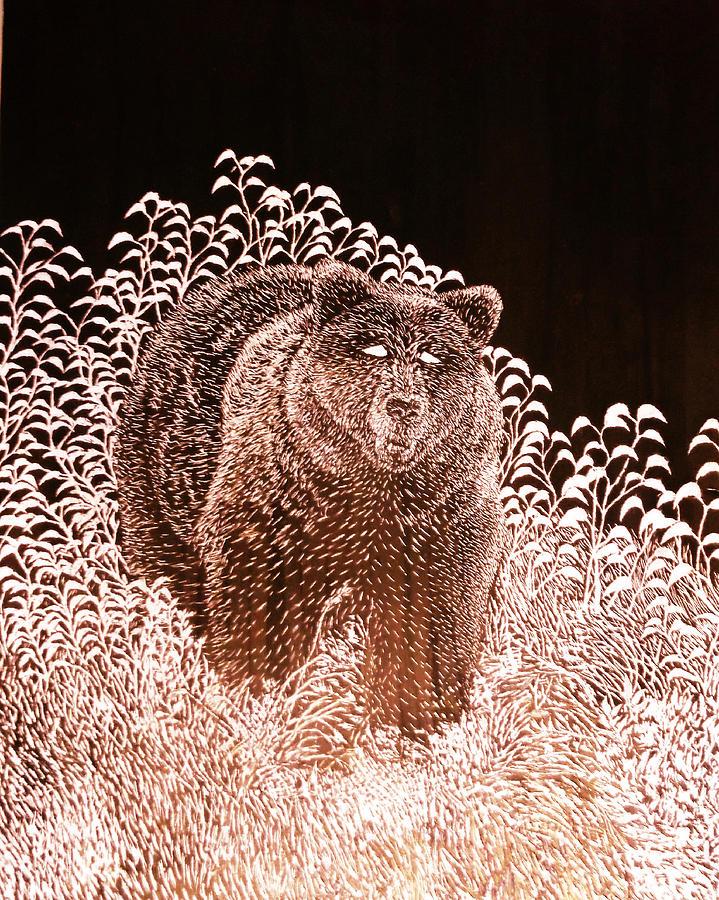 Black Bear Digital Art - Black Bear II by Sherry Bunker
