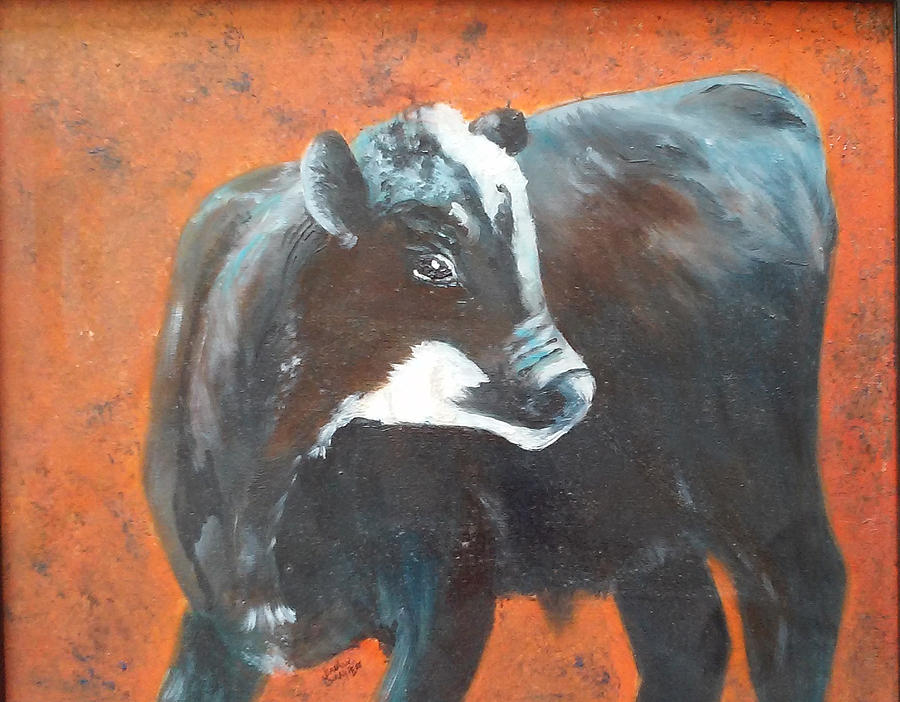 Animal Painting - Black Beauty by Jean Ann Curry Hess