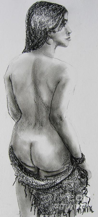 Young Girl Pastel - Black Beauty by Marta Styk