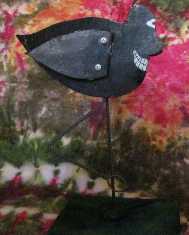 Black Bird Drawing - Black Bird by David Sutter