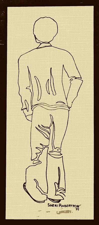 black boy standing on table drawing by sheri buchheit